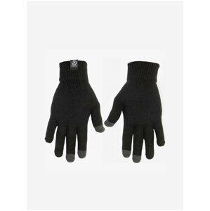 Šedo-černé dámské rukavice Meatfly