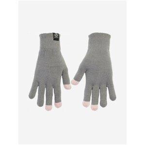 Růžovo-šedé dámské rukavice Meatfly