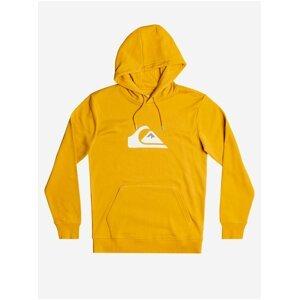 Žlutá pánská mikina s potiskem Quiksilver Big Logo Hood