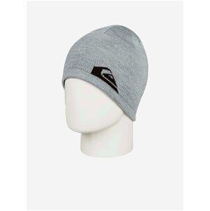 Černo-šedá pánská oboustranná vzorovaná čepice Quiksilver M&W Beanie