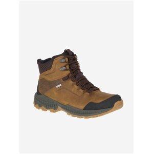 Hnědé pánské semišové kotníkové boty Merrell Forestbound Mid