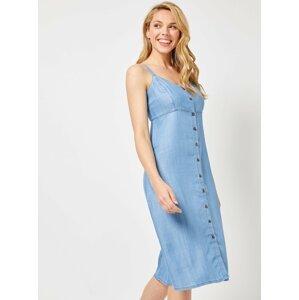 Modré šaty na ramínka Dorothy Perkins