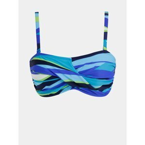 Modrý dámský vzorovaný horní díl plavek M&Co