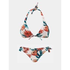 Růžové dámské květované dvoudílné plavky ZOOT Kelsi