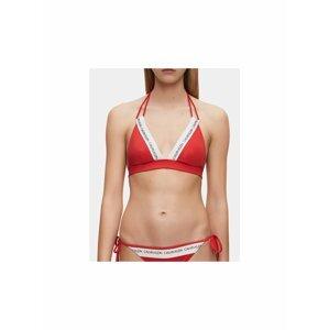 Červený dámský horní díl plavek Calvin Klein Underwear