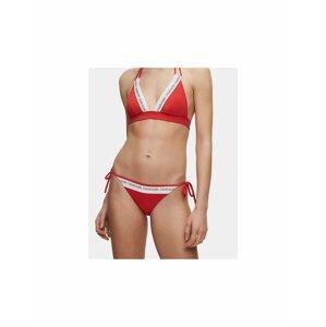 Červený dámský spodní díl plavek Calvin Klein Underwear