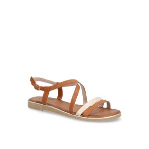 Jana sandály - hladká kůže hnědá