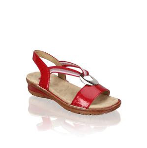 Vabene lakovaná kůže sandály na klínku