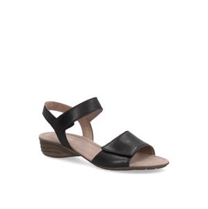 Gabor hladká kůže sandály černá