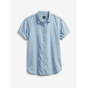 Roll Cuff Košile GAP Modrá