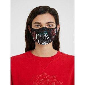 Mask Lettering Rouška Desigual Černá