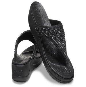 Monterey Shimmer Wedge Black Žabky Crocs Fialová