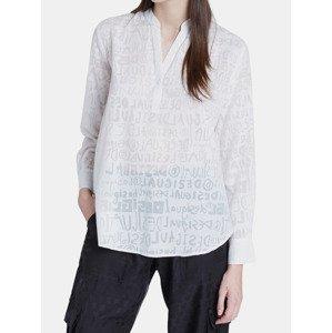 Blus Lettering Košile Desigual Bílá