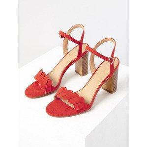 Sandále CAMAIEU Červená