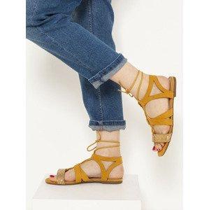 Sandále CAMAIEU Žlutá