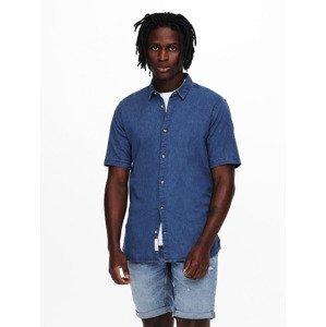 Košile ONLY & SONS Modrá