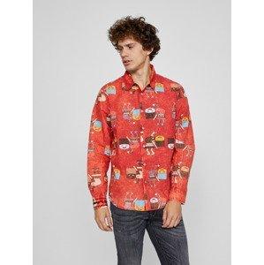 Simson Košile Desigual Červená