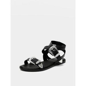 Adine Sandále Pieces Černá