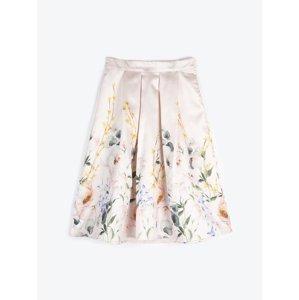 GATE Áčková sukně midi s květinovým potiskem