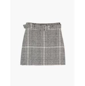 GATE Károvaná mini sukně s páskem dámská