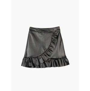 GATE Mini sukně z imitace kůže dámská